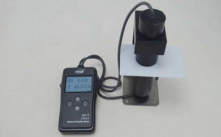 乳白材料透光率仪LS117实测