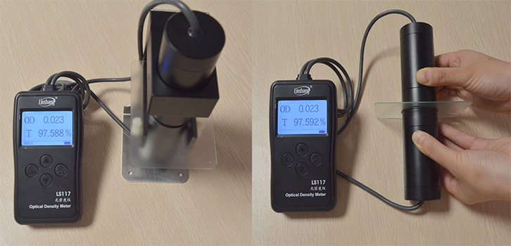 LS117透光率计测量磨砂玻璃