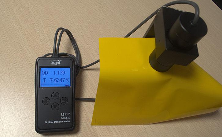光密度仪LS117测试PI膜