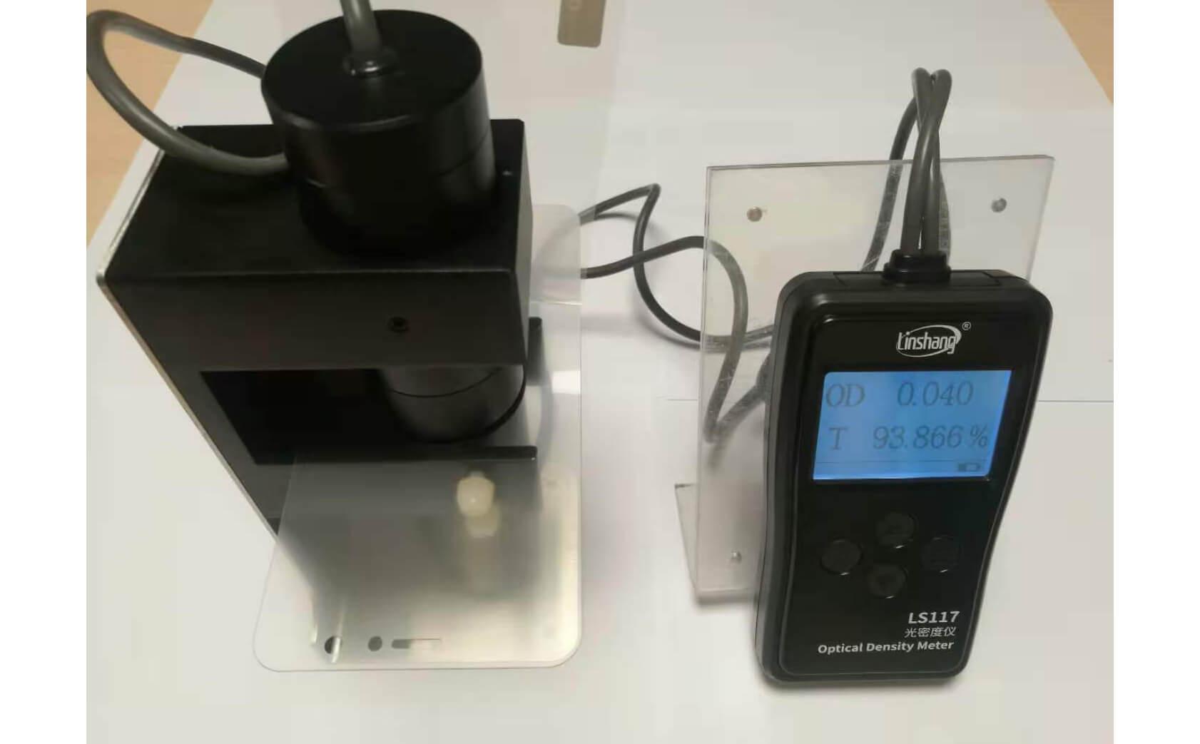 LS117透光率测试仪实测AG防眩光手机盖板