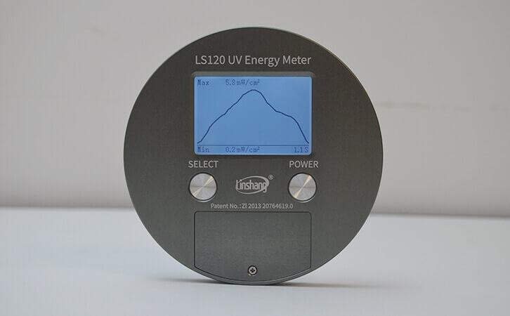 紫外能量计LS120功率曲线图