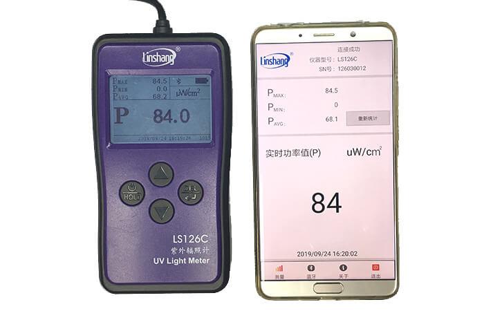 紫外线强度检测仪APP测量
