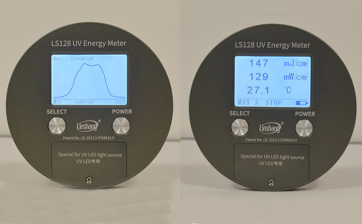 曝光机能量测试仪LS128显示界面