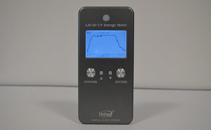 UV能量计LS130功率曲线图
