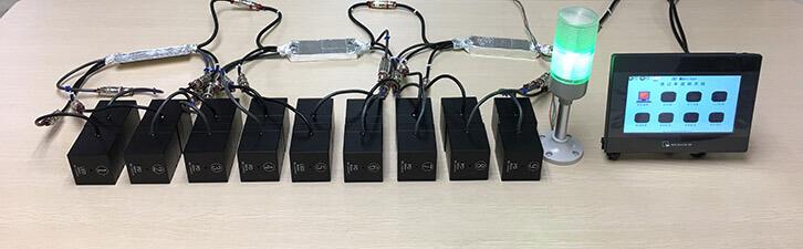 真空镀膜在线测厚仪9组测试点