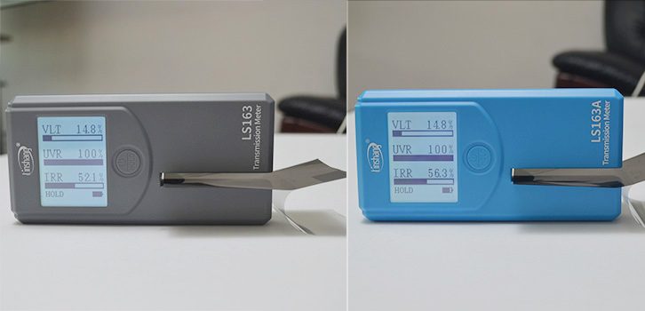 太阳膜测试仪LS163和LS163A实测太阳膜