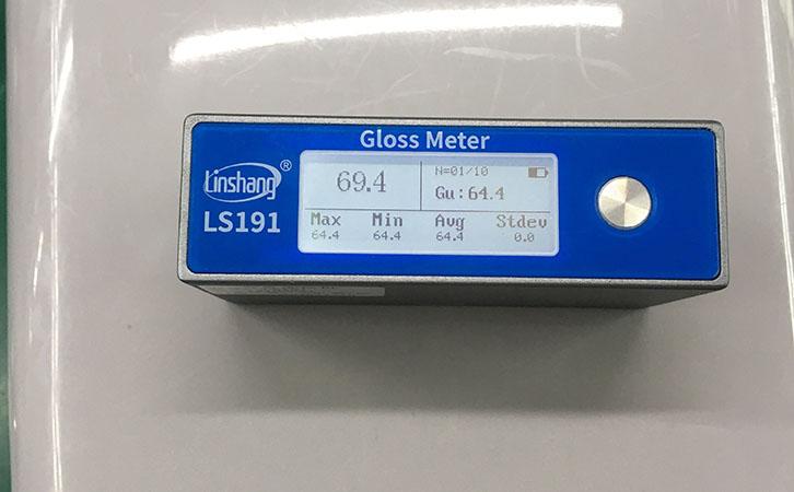 光泽度仪测量塑料光泽
