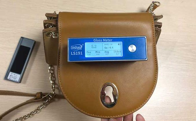光泽度仪可用于测量皮革的光泽度