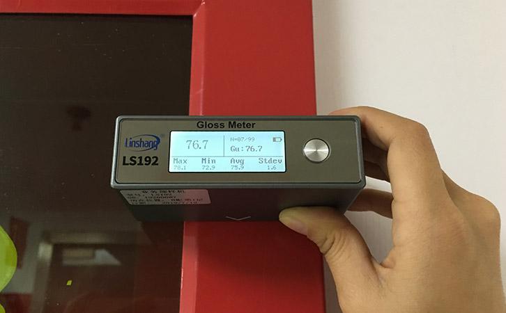 光泽度仪测量粉末涂料光泽度