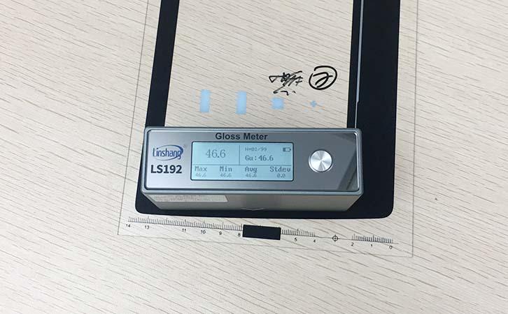 光泽度仪测量油墨
