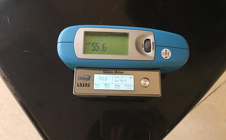 光泽度仪测量数据对比图
