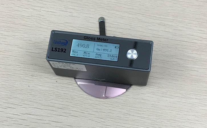 光泽度仪测量树脂光泽