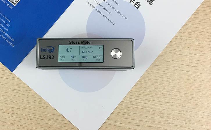 光泽度仪测量哑光纸光泽度