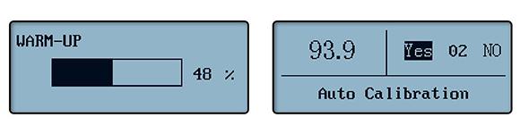 光泽度计LS192自检和自校准界面