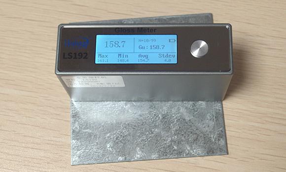 光泽度计LS192测量金属制品