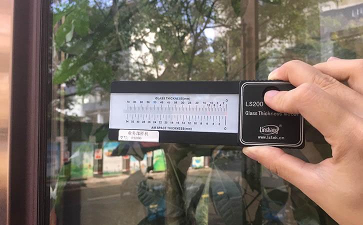 LS200如何测玻璃多厚