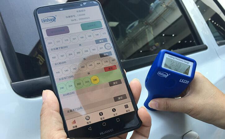 汽车漆膜仪测量车门