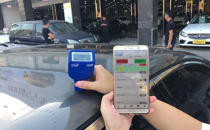 汽车漆面检测仪测试雪铁龙DS漆面厚度