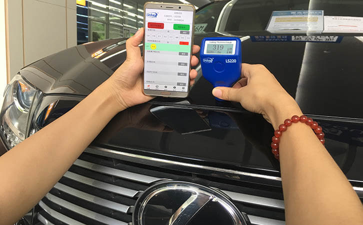 汽车漆面检测仪测试雷克萨斯ES250漆面厚度