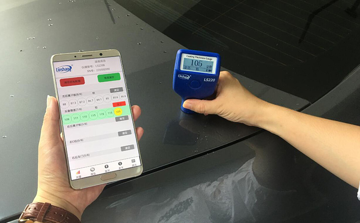 LS220B漆膜仪测量汽车