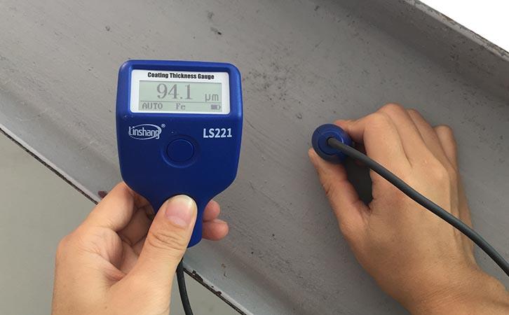 防腐涂层测厚仪测量钢结构