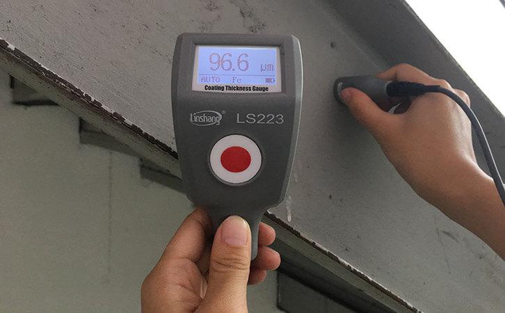 覆层测厚仪测量防火涂层