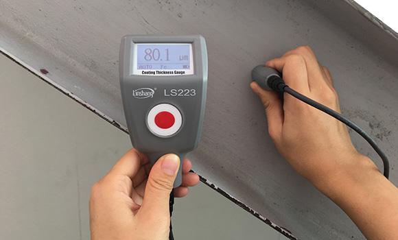 LS223漆膜测厚仪测量防火涂层