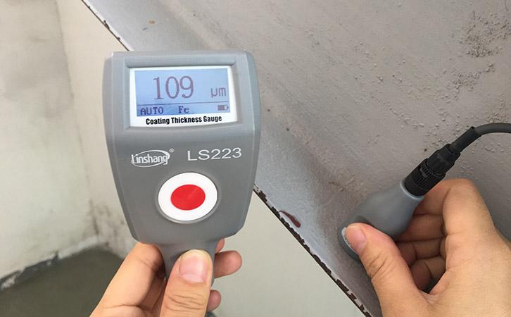 钢结构涂层测厚仪测量钢结构